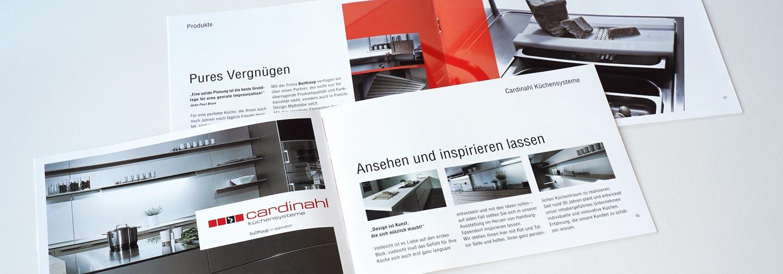 Küchensysteme artline agency werbeagentur cardinal küchensysteme
